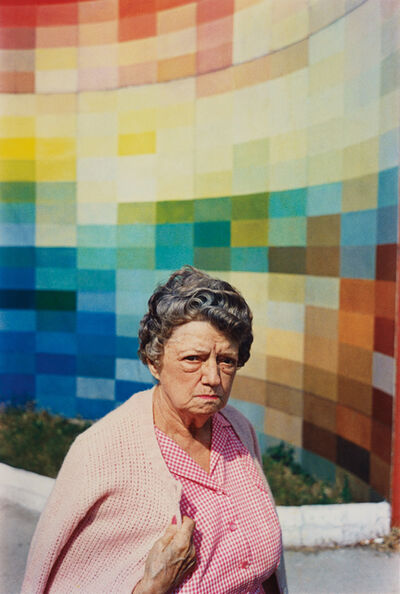 William Eggleston, 'Untitled (Gingham Woman, Albers wall)', 1965-1974