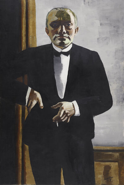 Max Beckmann, 'Self-Portrait in Tuxedo (Selbstbildnis im Smoking)', 1927
