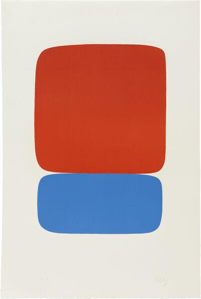 Ellsworth Kelly, 'Red-Orange over Blue (Rouge-Orange sur Bleu)', 1964-65