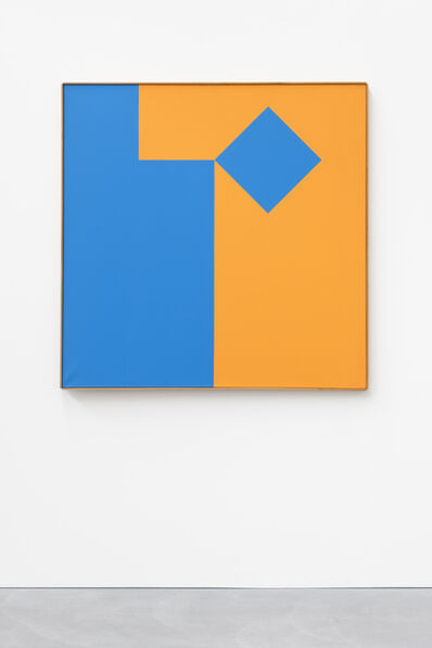 Camille Graeser, 'Blau - Orange Volument 1:1, 1/8 blau bewegt'
