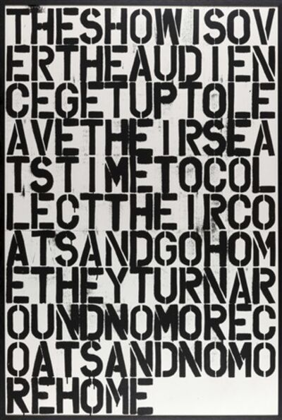 Christopher Wool, 'Untitled (poster)', 1993