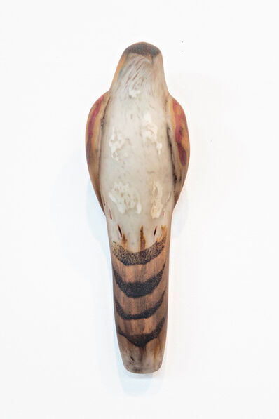 Jane Rosen, 'TOBACCO LACE SQUARE BIRD', 2018