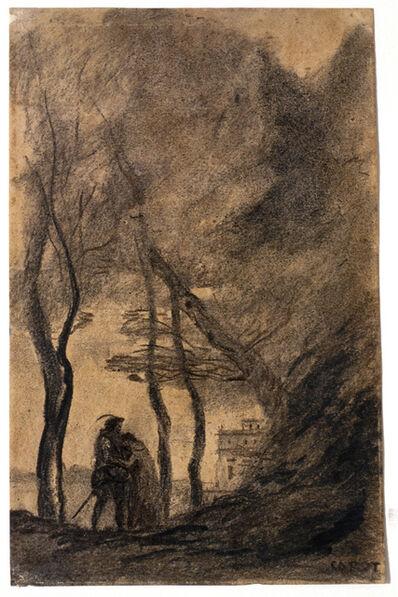 Jean-Baptiste-Camille Corot, 'The Farewell', 1871-1872