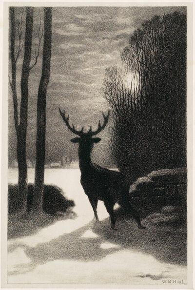 William Morris Hunt, 'A Winter Stag', 1866