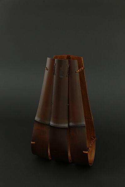Matsumoto Hafū, 'Soot colored bamboo hanging vase', 2017