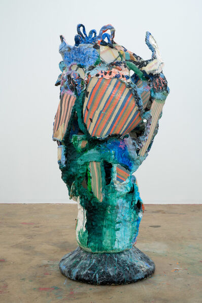 Katie Stout, 'Patch Vessel (Blue)', 2020
