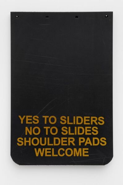 """Cary Leibowitz (""""Candy Ass""""), 'Yes to Sliders, No to Slides, Shoulder Pads Welcome (Gold)', 2019"""
