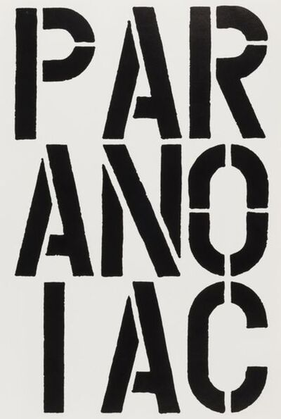 Christopher Wool, 'Paranoiac', 1989