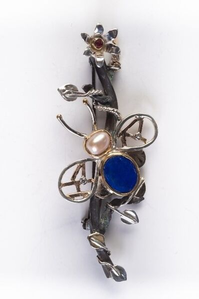 Sheridan Conrad, 'Flying Insect with Lapis and Pearl', 2020