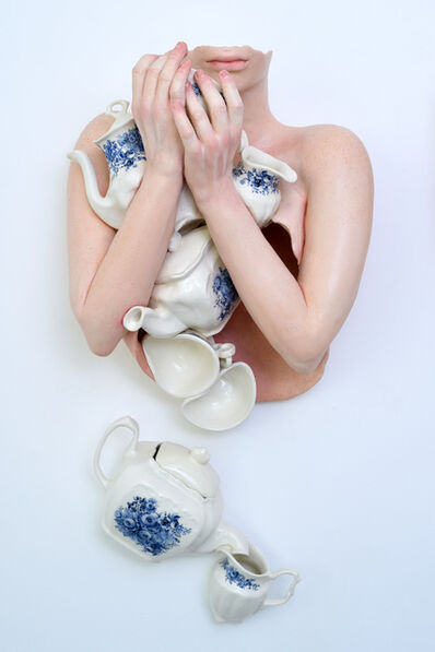 Ronit Baranga, 'Hollowed Lady Pinching and Squeezing Kettle #1', 2018