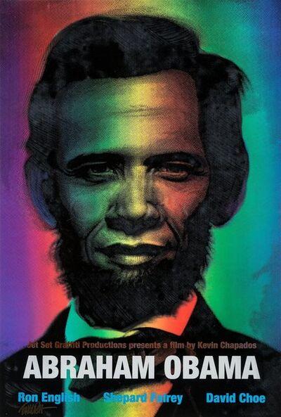 Ron English, 'Abraham Obama (Red, White, and Blue)', 2009