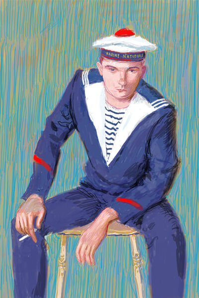 David Hockney, 'Matelot Kevin Druez I', 2009