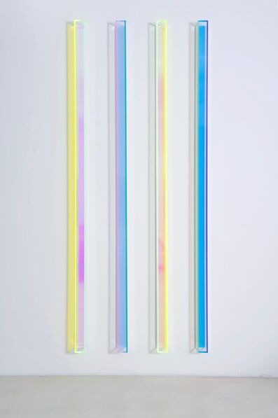 Regine Schumann, 'colormirror transparent blue green', 2018