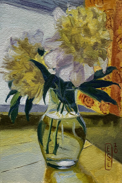 Ellen Starr Lyon, 'Golden Lit Peonies (Postcard)', 2020