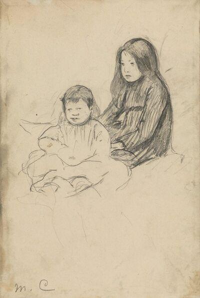 Mary Cassatt, 'Two Peasant Children on the Grass', ca. 1886