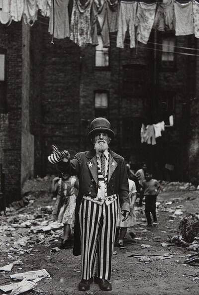 Diane Arbus, 'Max Maxwell Landar, Uncle Sam, N.Y.C.', 1961