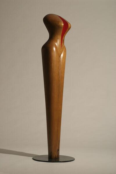 David Hostetler, '20th Century Woman, wood sculpture', 1999