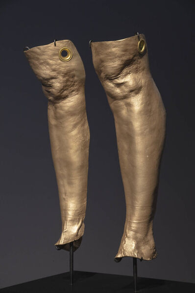 "Julie Rrap, '""Knee Capped"" Cleaves', 2019"