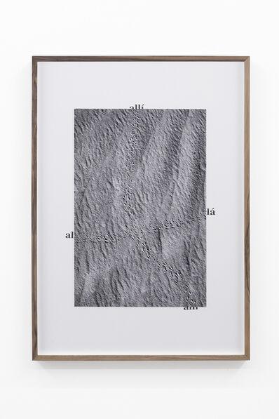 Adrien Missika, 'Camino por desierto (Allí, allá, allí)', 2018