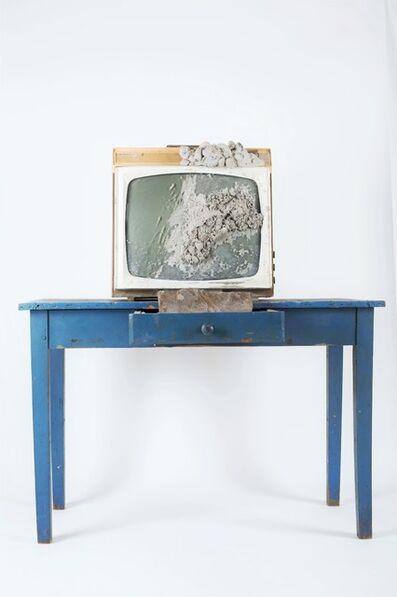 Wolf Vostell, 'Beton-TV mit Tisch / Concrete TV with table', 1980