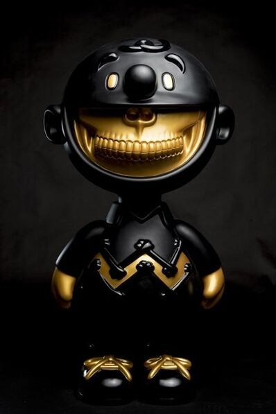 Ron English, 'Compound Charlie Grin-Black/Gold', 2017