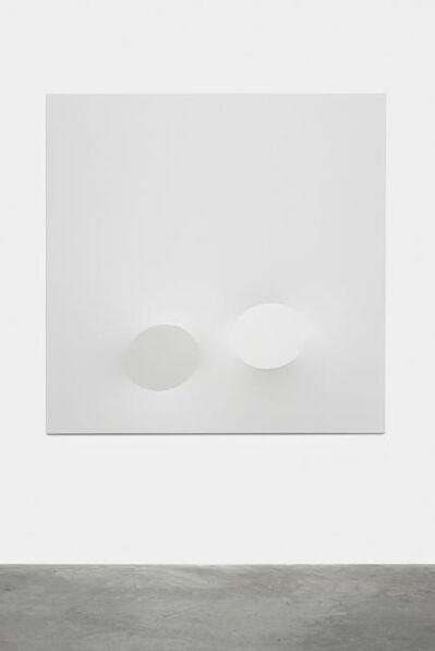 Turi Simeti, 'Due ovali bianchi', 2015