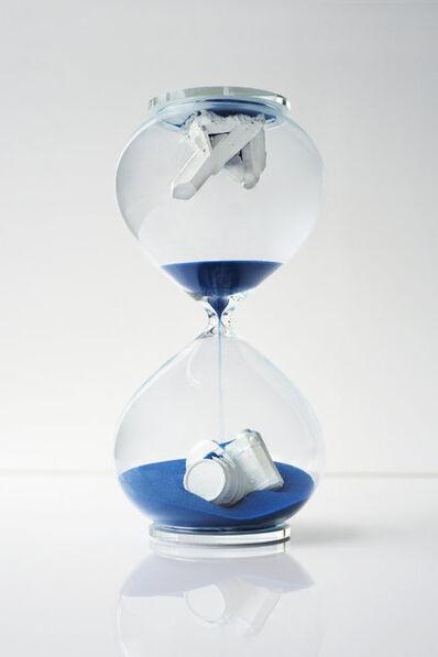 Daniel Arsham, 'Hourglass (Blue)', 2019
