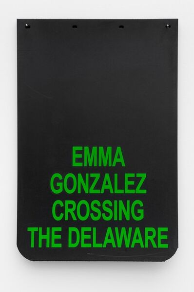 "Cary Leibowitz (""Candy Ass""), 'Emma Gonzalez Crossing The Delaware (Green)', 2019"
