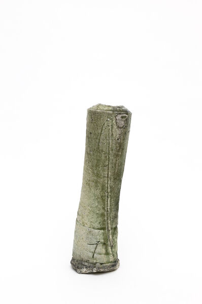 Yui Tsujimura, 'Natural ash glaze cylinder shaped vase', 2018
