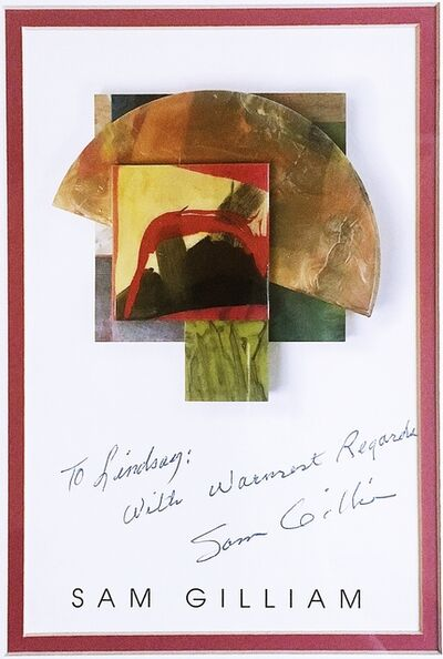 Sam Gilliam, ' Hand Signed Postcard Warmly Inscribed to Renowned African American Arts Educator ', 1988