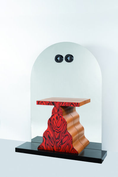 """Ettore Sottsass, '""""Sibilla"""" mirror in melamine wood and mirror console', 1992"""