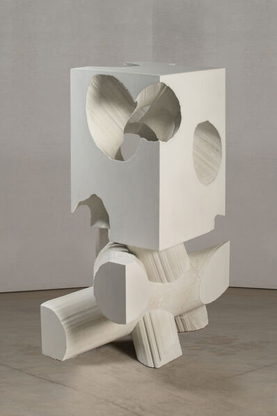 Mel Kendrick, 'White Block/Tubes', 2015