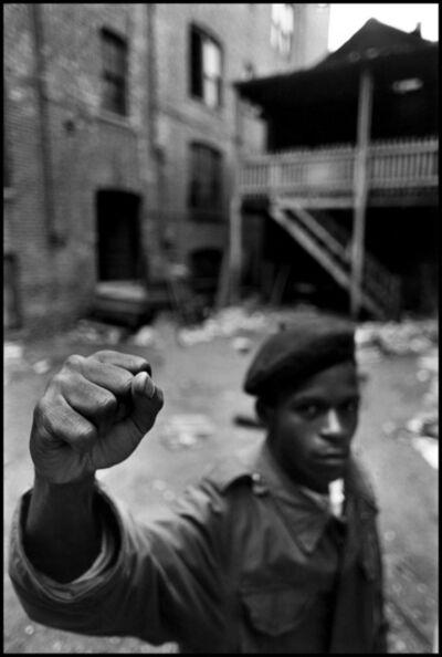 Hiroji Kubota, 'A Black Panther Party member. Chicago, Illinois, USA', 1968