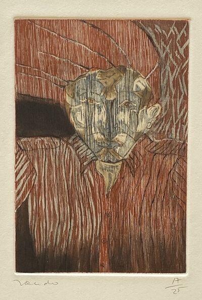 Francisco Toledo, 'Portrait in Red', ca. 1980