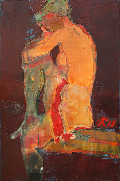 Serhiy Hai, 'Seated Nude Orange', 2018