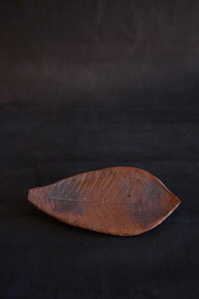 Shiro Tsujimura, 'Leaf Plate (Bizen-Style)', 2019