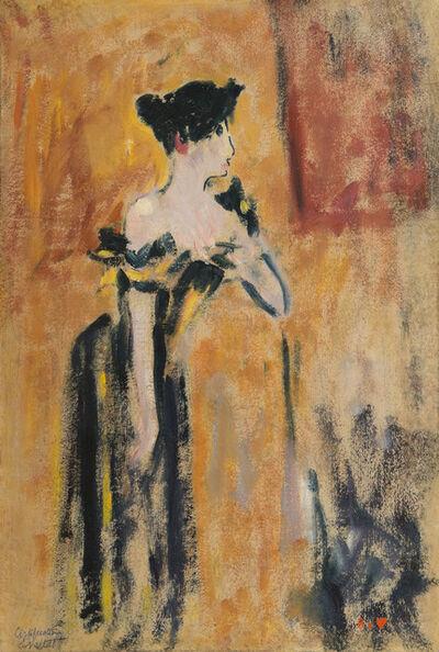 Louis Valtat, 'Brune à la robe noire et jaune', ca. 1895