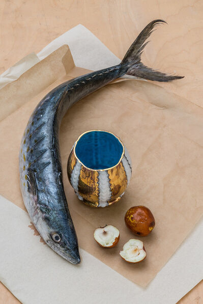 Melanie Sherman, 'Memento Mori - Cup with Fish, Fruit', 2013