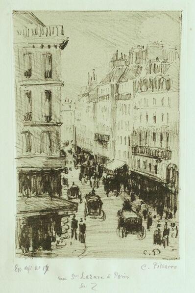 Camille Pissarro, 'Rue Saint-Lazare à Paris', 1897