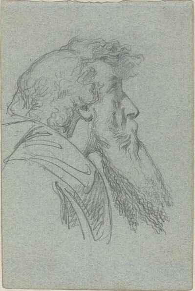 Alexandre Bida, 'Bearded Man Looking Up / Cloaked Figure with Raised Arms'