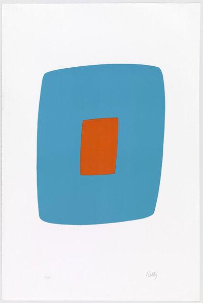 Ellsworth Kelly, 'Light Blue with Orange (Bleu Clair avec Orange)', 1964-1965