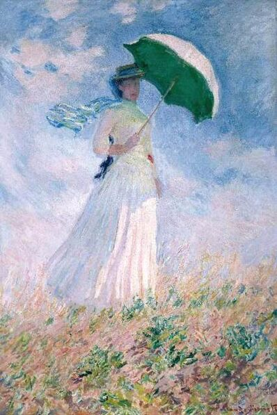 Claude Monet, 'Woman With A Parasol ', 20th Century