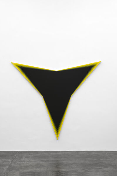 Philippe Decrauzat, 'Black Should Bleed to Edge (Yellow)', 2012