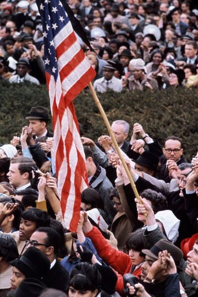 Henri Dauman, 'American Flag, Civil Rights Protest in Front of the White House, Washington, DC', 1965