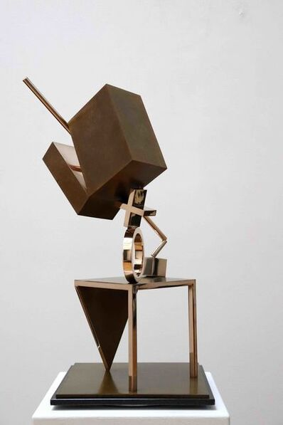 Fletcher Benton, 'Balanced/Unbalanced Table/Cube', 1993