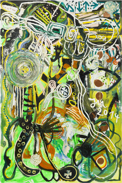 Jonathan Meese, 'HALLO, BEWURSCHTL' DEIN BUSINESS A LITTLE FRESH', 2014