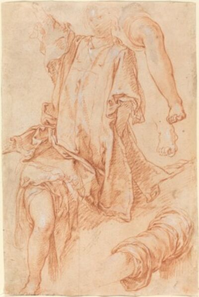 Abraham Bloemaert, 'Studies of Legs and Drapery [recto]'
