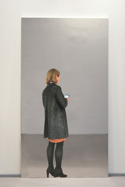 Michelangelo Pistoletto, 'Woman with coat and smartphone', 2018