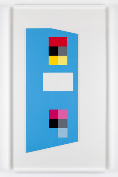 Peter Saville, ''Irregular cerulean blue' (from the 'metalanguage' series)', 1980
