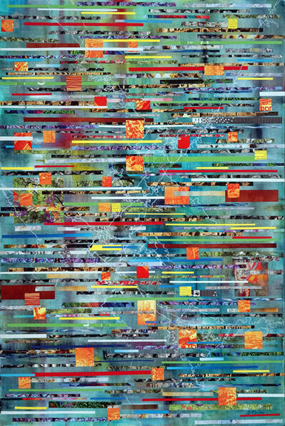 Sherry Tseng Hill, 'Demeter in Ecstasy - contemporary, abstract, collage, bright, shimmering, prismatic', 2019